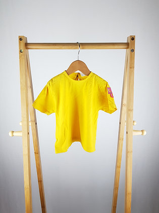 Unbranded yellow t-shirt 12-18 months