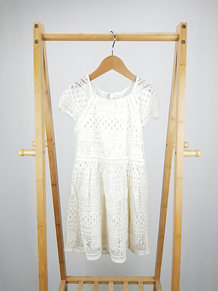 F&F cream lace dress 6-7 years