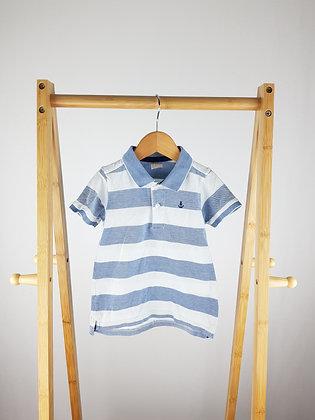 H&M striped nautical polo shirt 18-24 months