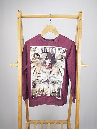 Matalan burgundy sweater 10-11 years