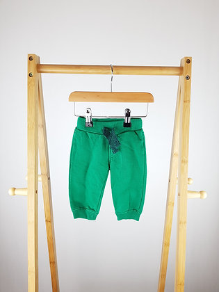 F&F green joggers 3-6 months