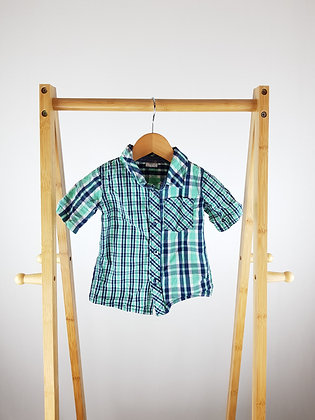 F&F checked shirt 9-12 months