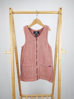 Firetrap dusky pink cord pinafore dress 6-7 years