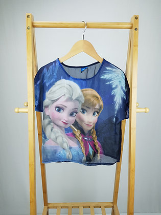 Disney at George Frozen sheer t-shirt 11-12 years