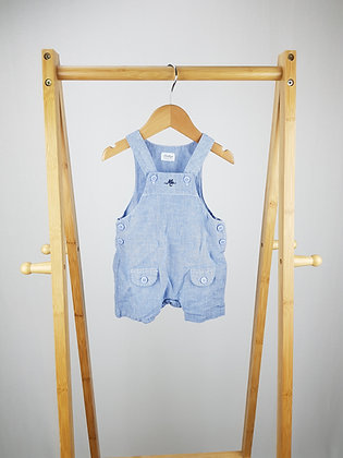 Heritage by Mothercare blue short dungarees 0-3 months