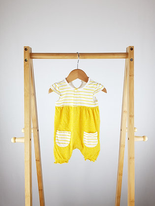 George yellow romper first size