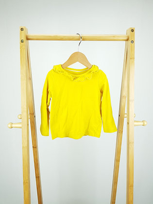 M&S yellow long sleeve top 12-18 months