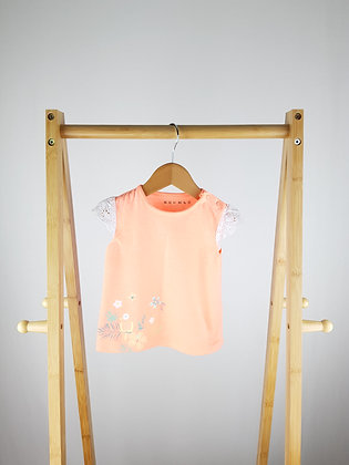 Nutmeg fluo orange t-shirt 6-9 months