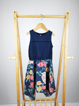 Nutmeg floral dress 6-7 years