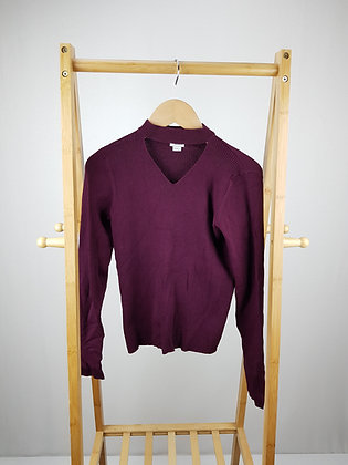 River Island  burgundy ribbed sweater 11-12 years