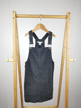 Primark sparkly cord pinafore dress 7-8 years
