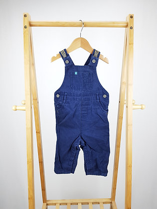 M&S navy dungarees 9-12 months