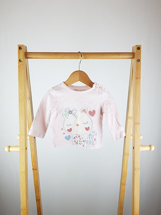 M&Co pink long sleeve top 3-6 months