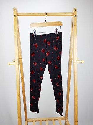 M&Co velvet butterfly leggings 7-8 years