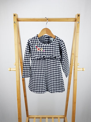 Lily & Sid  long sleeve checked dress 18-24 months