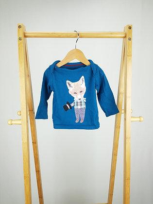 M&S blue fox long sleeve top 6-9 months