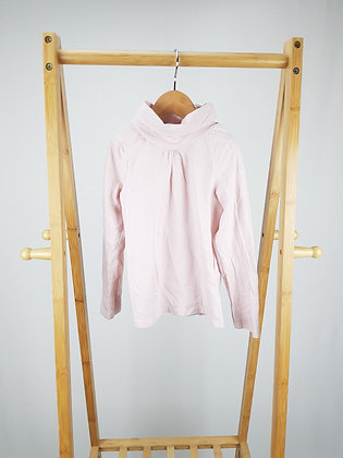 H&M pink roll neck long sleeve top 4-6 years