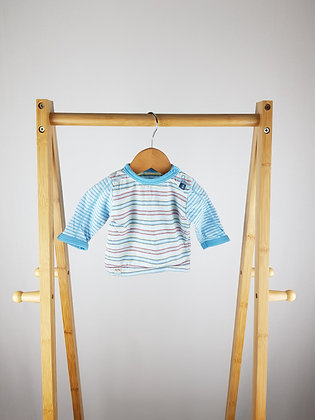 Mothercare striped long sleeve top newborn