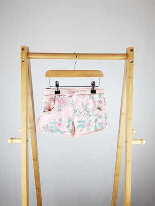 F&F floral shorts 4-5 years