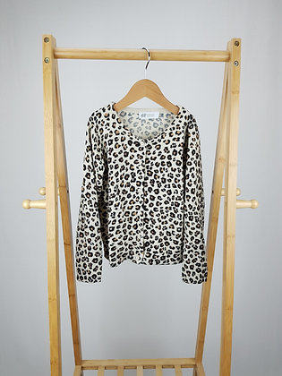 H&M leopard knitted cardigan 4-6 years