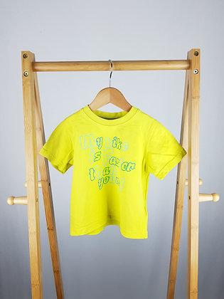 Mothercare yellow t-shirt 18-24 months