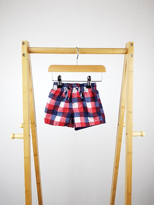 Rebel checked shorts 6-9 months