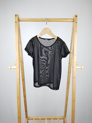 F&F active black mesh t-shirt 7- 8 years