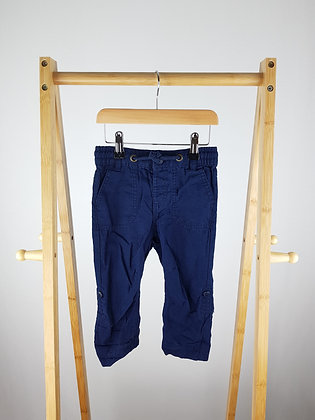 George linen mix navy trousers 18-24 months
