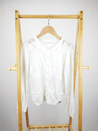 Hooch white knitted lace cardigan 14 years