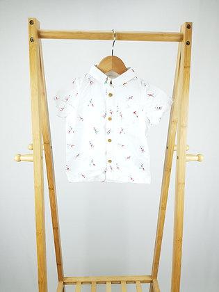 M&S short sleeve shirt 9-12 months playwear