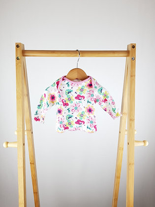 M&Co floral long sleeve top newborn