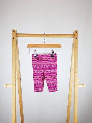 F&F abstract leggings 0-3 months