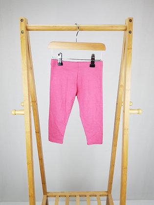 F&F pink leggings 12-18 months