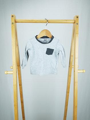 H&M grey long sleeve top 4-6 months