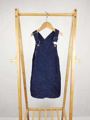 George spotted corduroy pinafore dress 5-6 years