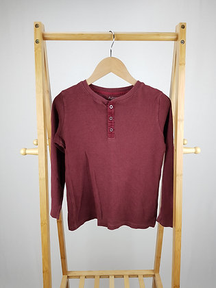 M&S burgundy buttoned long sleeve top 9-10 years