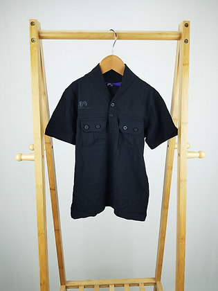 George buttoned black t-shirt 5-6 years