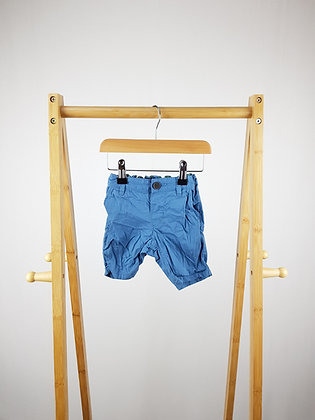 H&M blue shorts 6-9 months