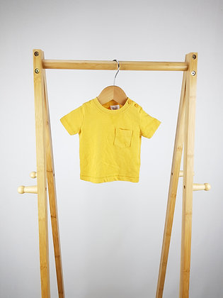F&F yellow t-shirt up to 1  month