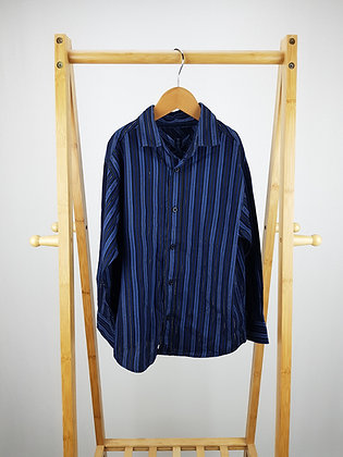 Cherokee blue striped  shirt 6-7 years
