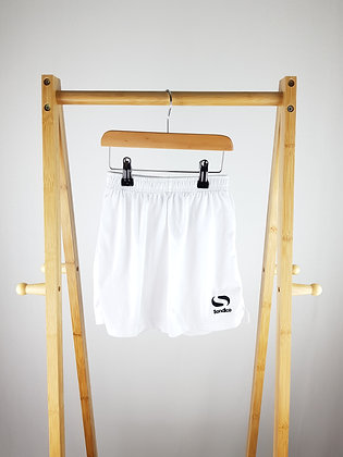Sondico white football shorts 5-6 years