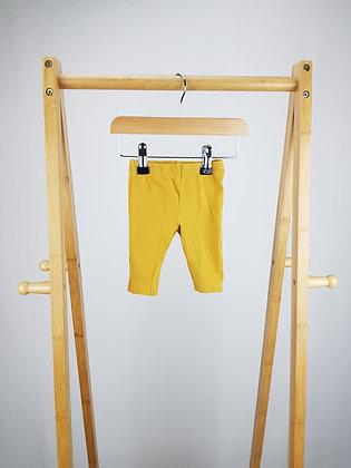 Matalan mustard leggings 0-3 months