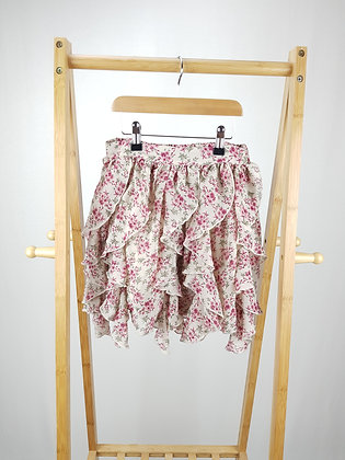 Matalan floral tiered skirt 10-11 years