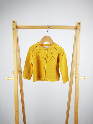 F&F mustard knitted cardigan  3-6 months