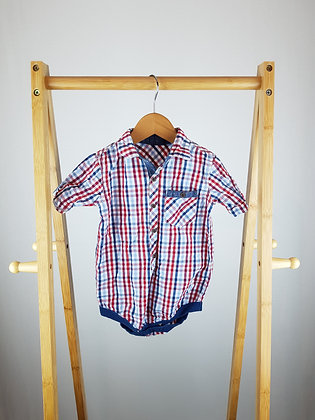 George checked shirt bodysuit 18-24 months