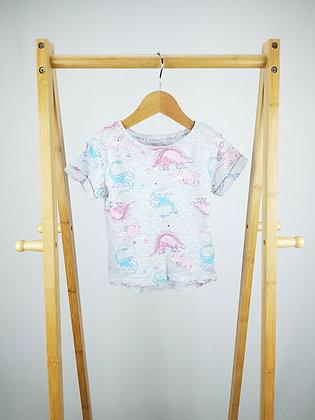F&F dinosaur t-shirt 2-3 years