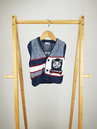 George Thomas train knitted vest 12-18 months