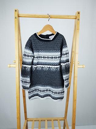 Lulurain long sleeve knitted dress 4-5 years