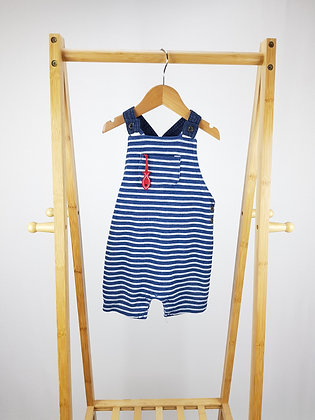 F&F striped short dungarees 12-18 months