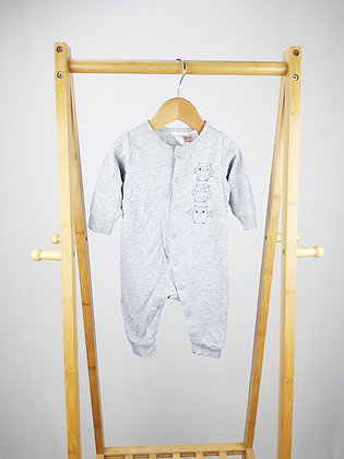 H&M owl long sleeve all-in-one 2-4 months